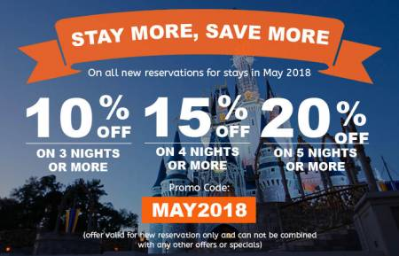 Stay more and Save more when staying in May 2018