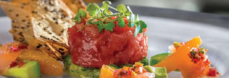 Eddie V's Tartare Pacific Ahi Tuna dish